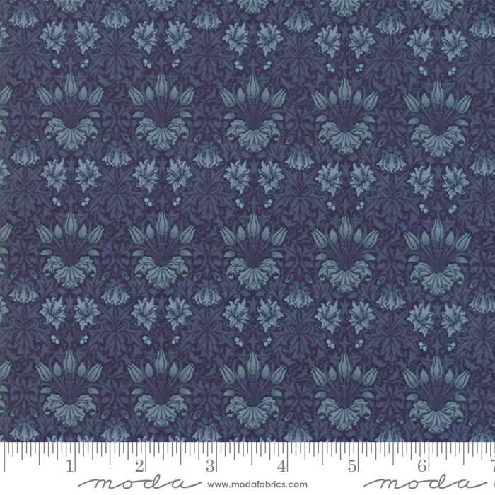 May Morris Studio Indigo - 7342-16 - Tulip1900