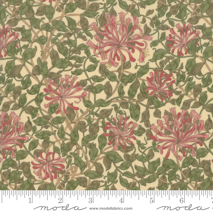May Morris Studio Cream - 7347-12 - Honeysuckle 1883