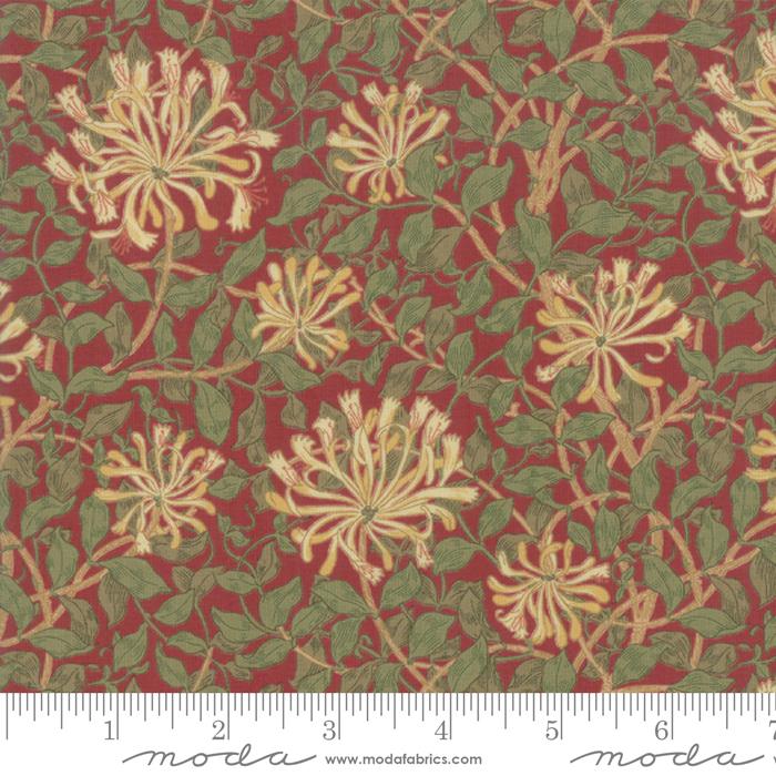 May Morris Studio Crimson - 7347-14 - Honeysuckle 1883
