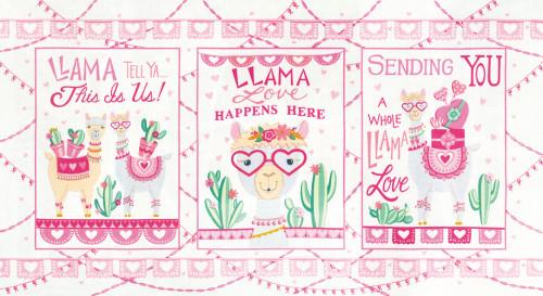 Llama Love 19920-12 Panel Snowy White