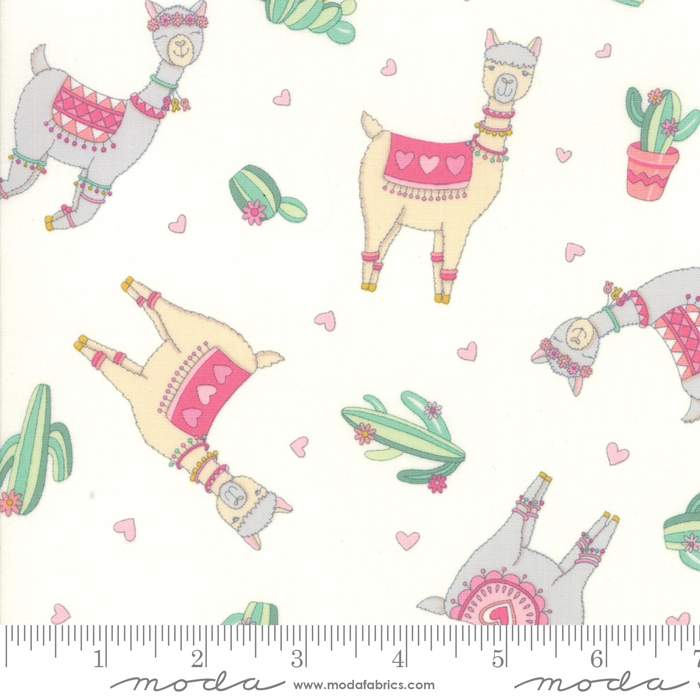 Llama Love Snowy White