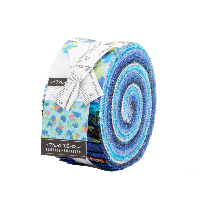 33450JR Fields Of Blue Jelly Roll Moda