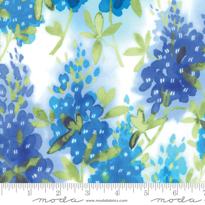 33450 11 Ivory Fields of Blue Moda