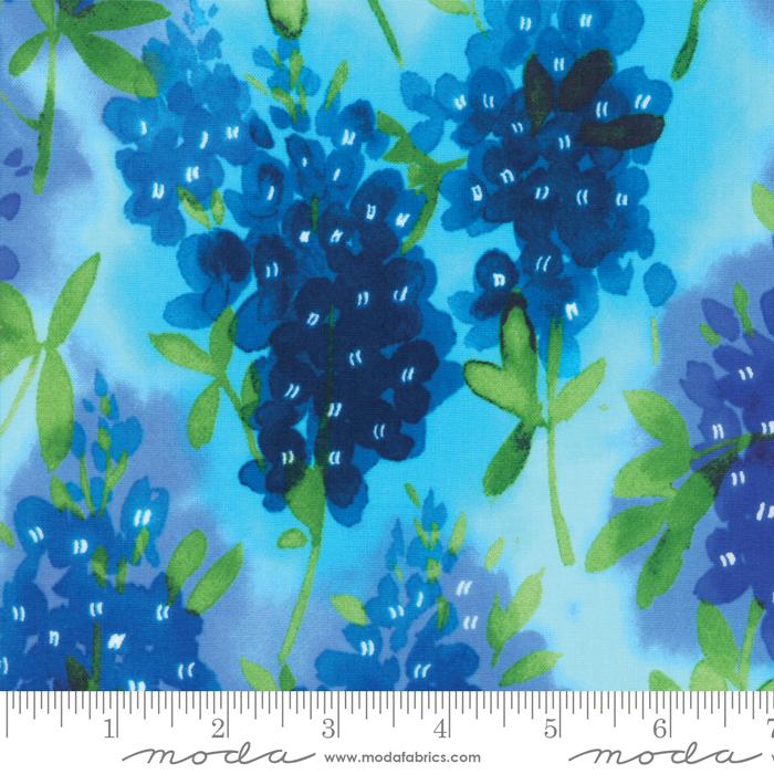33450 13 Aqua Fields of Blue Moda