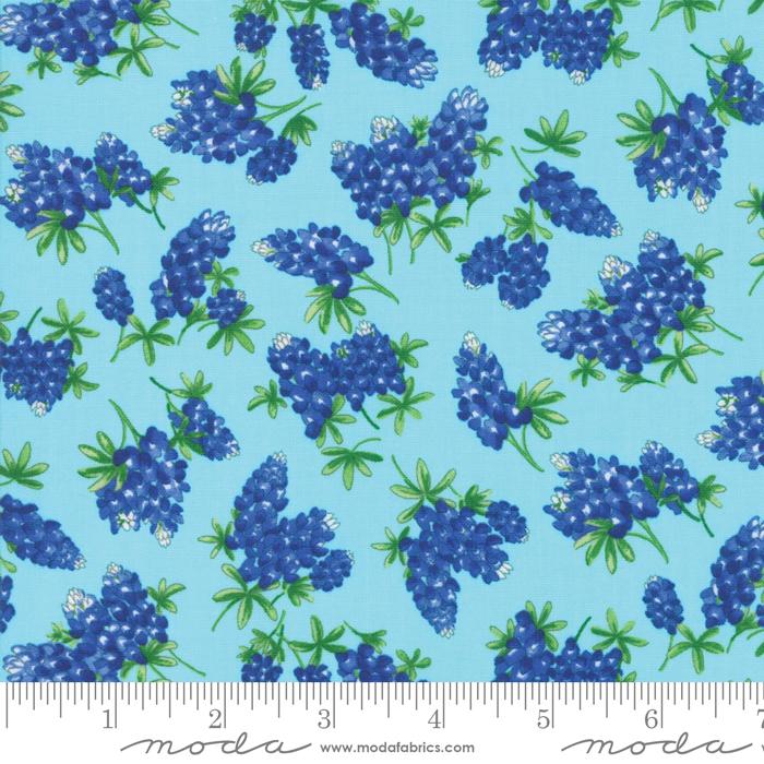 Fields of Blue Aqua W10434)