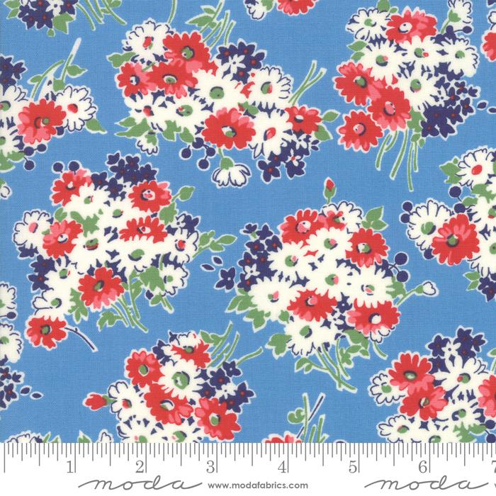 Moda - American Jane-Good Times-Floral Bouquet/Blue - 21771 17