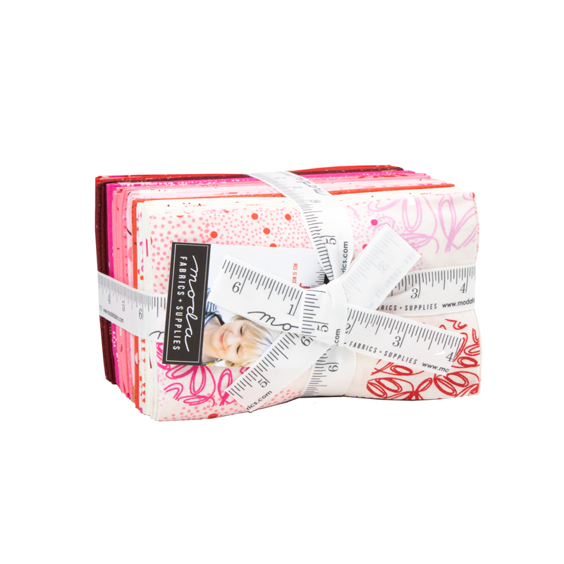Just Red - Zen Chic - Fat 8th Bundle - 9 x 22 - 35 pieces