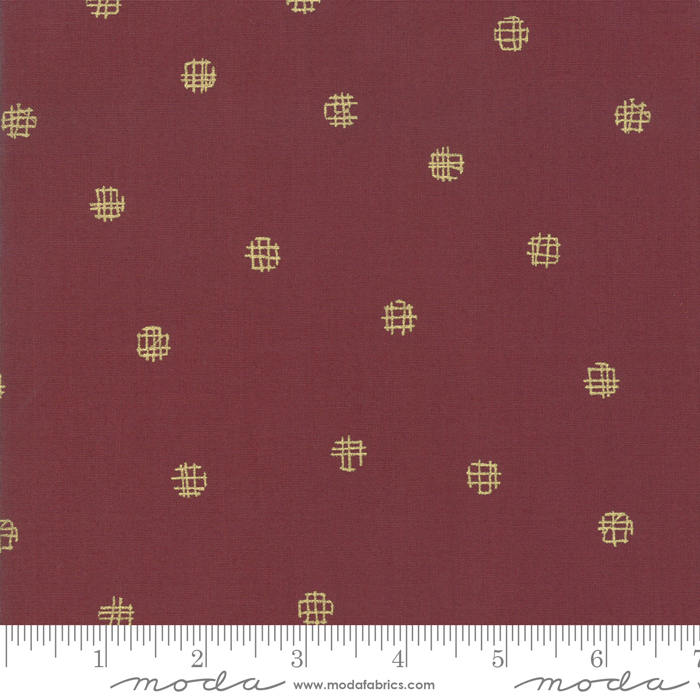 Just Red 1704M-17 Cross My Dots Merlot