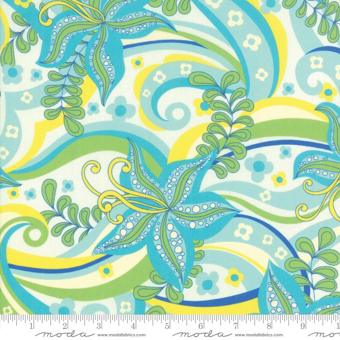 Kiamesha - Kiamesha Floral, Aqua - by Crystal Manning for Moda Fabrics