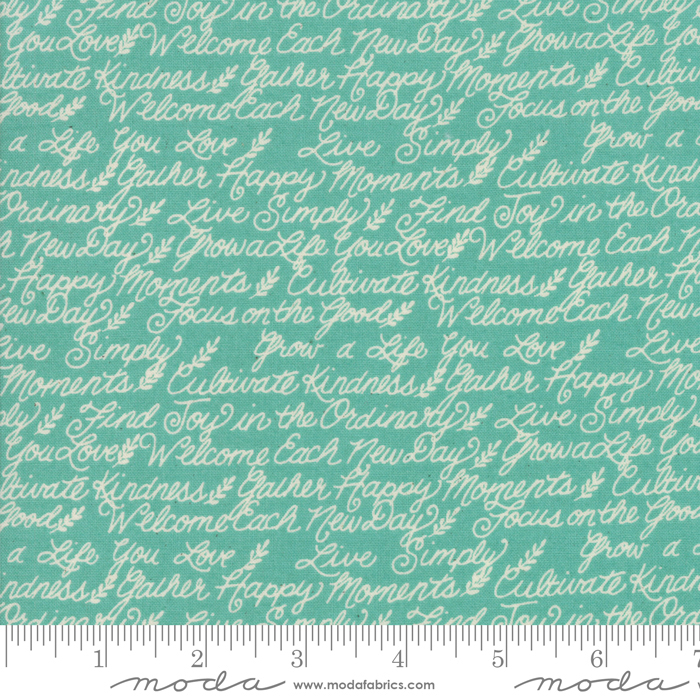 Cultivate Kindness Vintage Aqua script on aqua