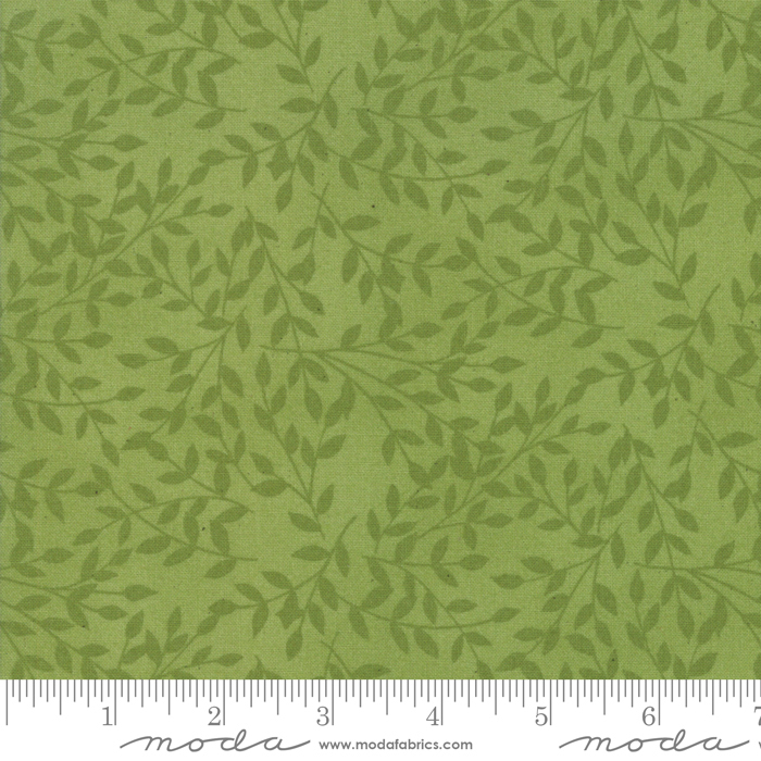 Cultivate Kindness Moss Green small green leaf tonal