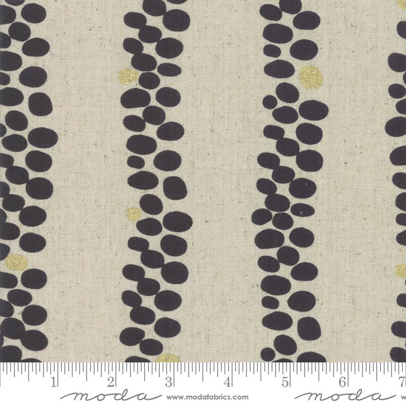 Chill Mochi Linen - Dot Stripe - Linen Charocal