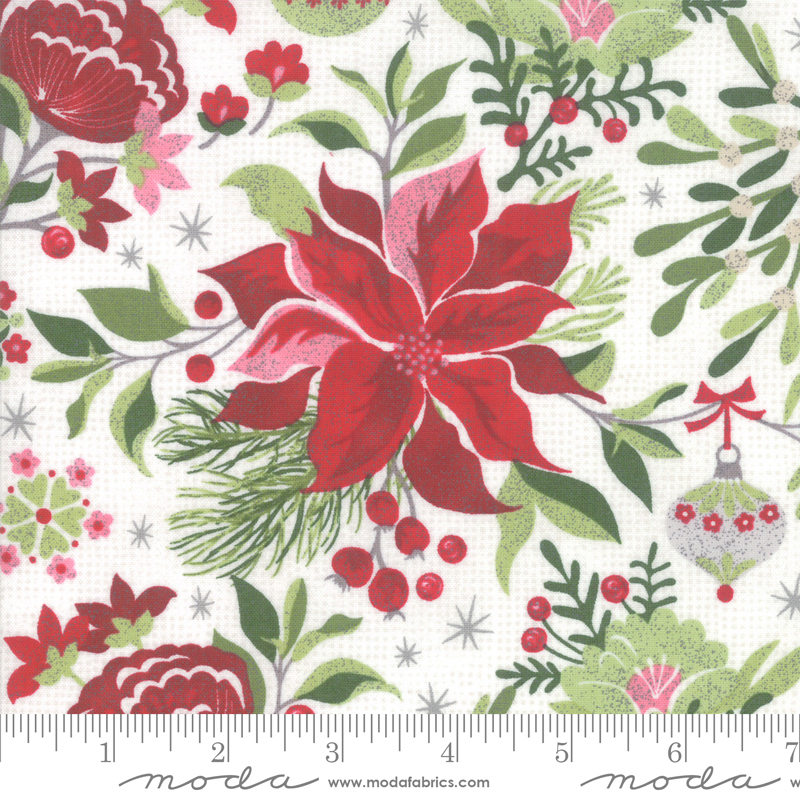 BasicGrey - Naughty Or Nice - Floral - Snow