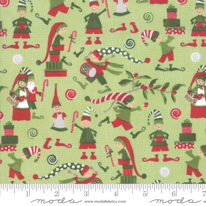 Naughty Or Nice Winter Mint - 6 2/3 yard cut