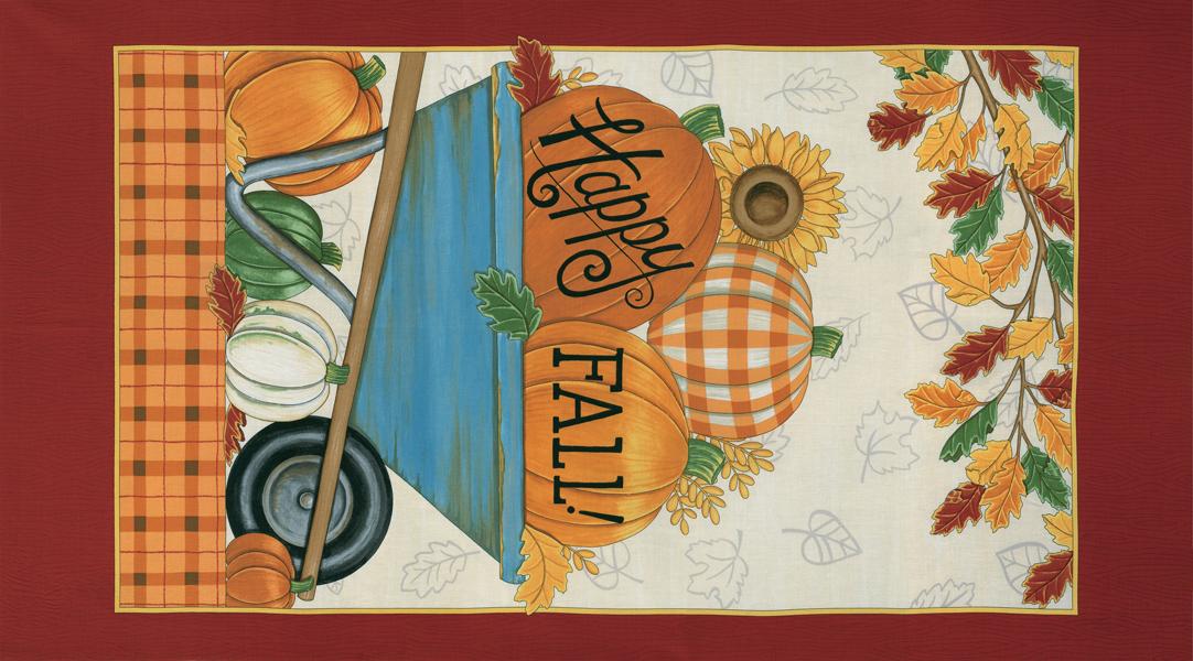 Happy Fall Panel Farmhouse White