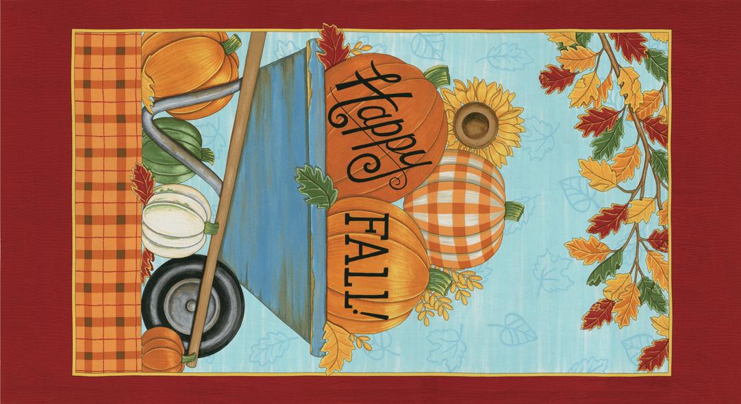 Happy Fall Farmhouse Aqua