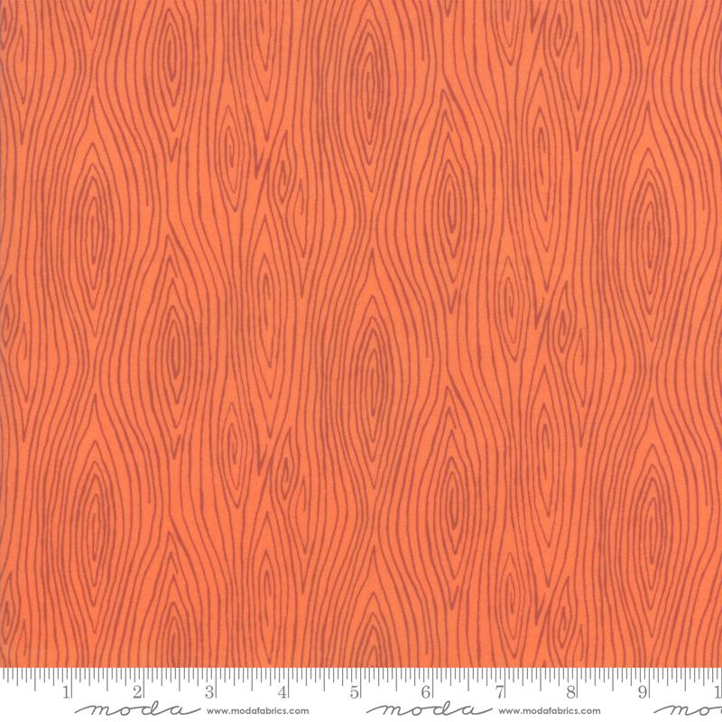 Happy Fall Orange Wood Grain