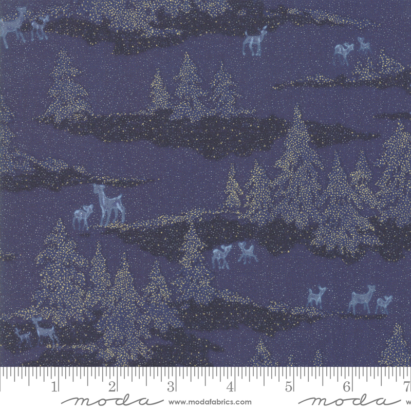 Forest Frost Glitter Night Sky