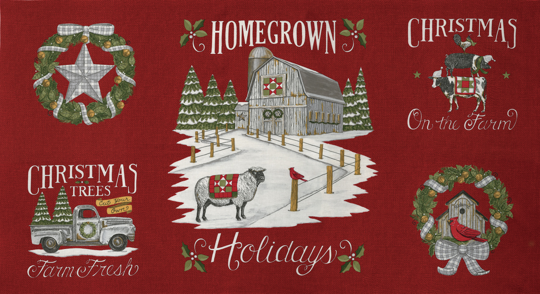 Homegrown Holidays Barn Red