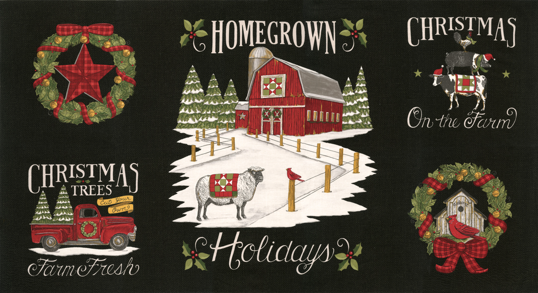 Homegrown Holidays Farm Black Panel 24