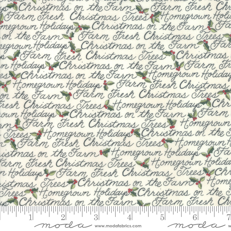 Homegrown Holidays Winter White Script