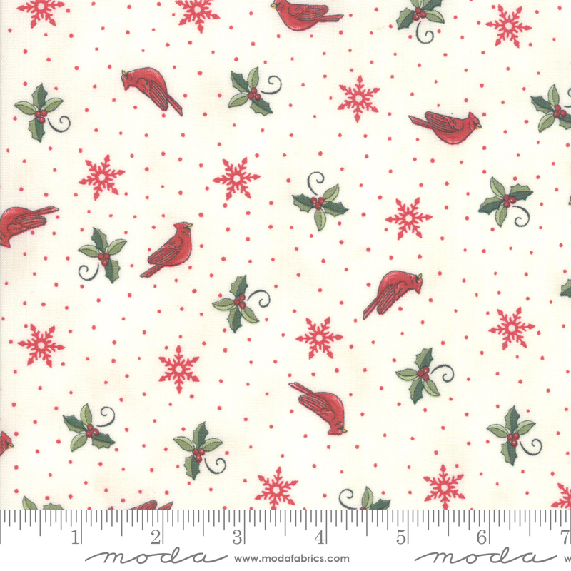 Homegrown Holidays by Deb Strain - Cardinals - White - Moda 19945 11