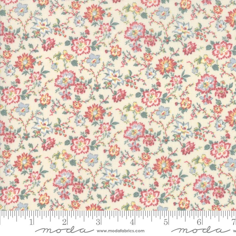 Item#13022.C - Tres Jolie Lawns Pearl - Moda - French General