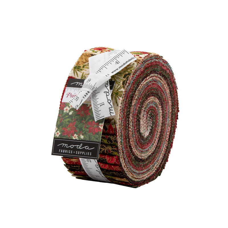 Poinsettias Pine 33510-JRM Jelly Roll