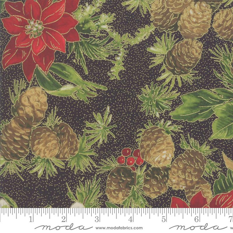 Poinsettias Pine 33510-14M Ebony