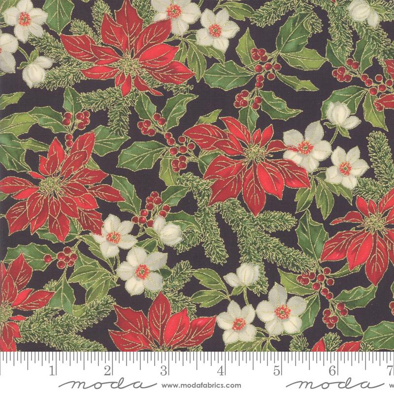 Poinsettias Pine Ebony 33511 14M