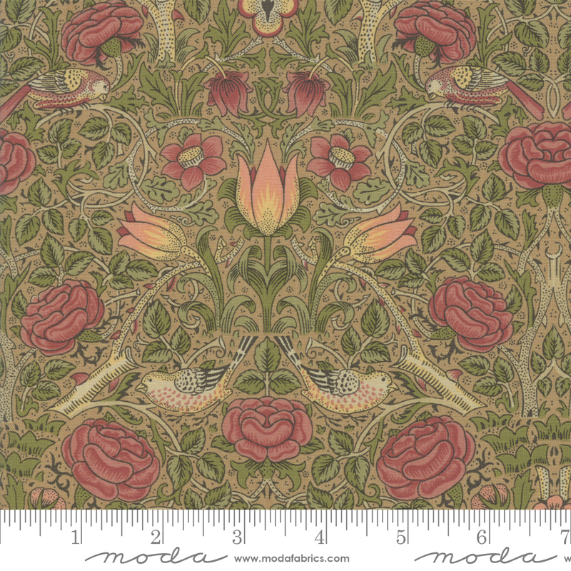 Best Of Morris Fall Tan Large Floral with Bird