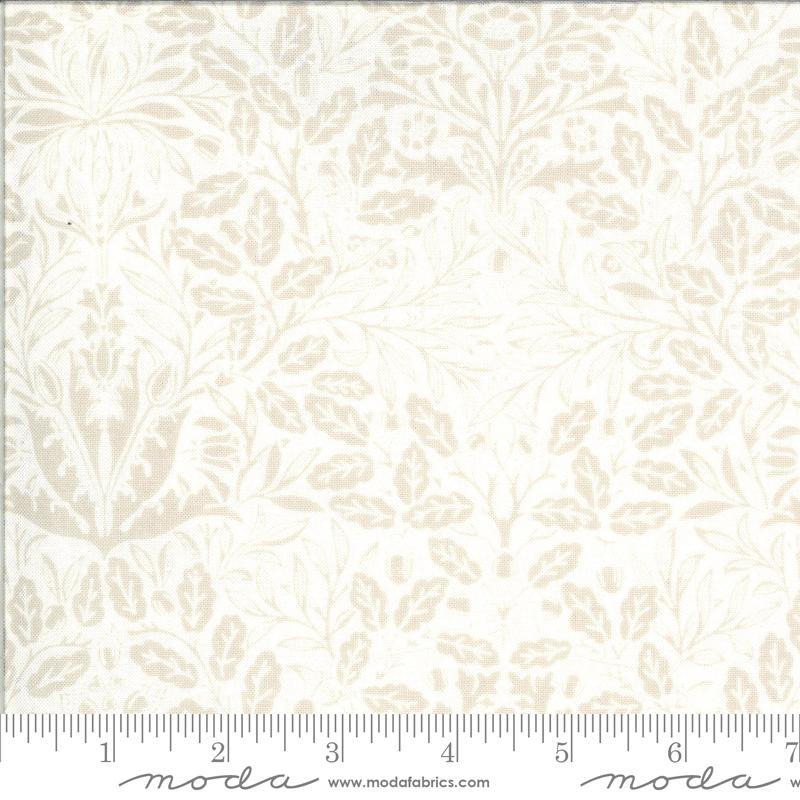 Dover Acorn Damask Linen White