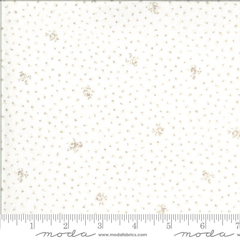 Dover Little Floral Linen White 18702-11