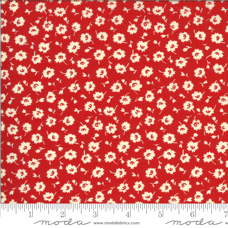 Its Elementary - Apron Floral Red