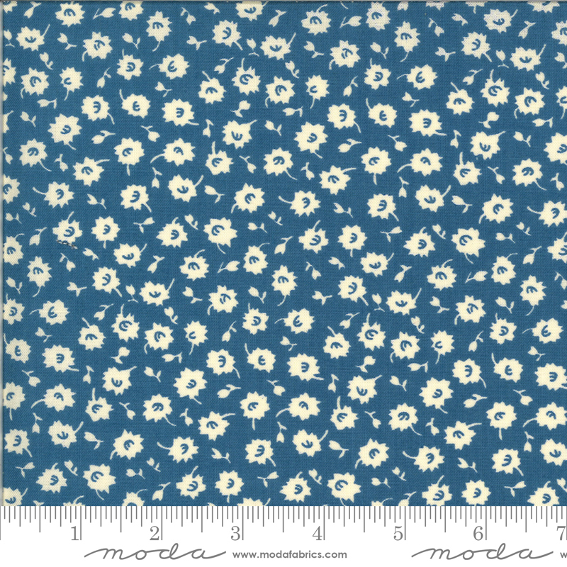 It's Elementary  by American Jane - Floral - Blue - Moda 21787 16