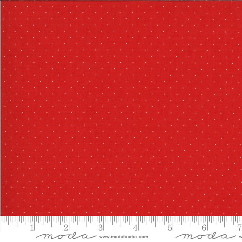 It's Elementary  by American Jane - Pindot - Red/White - Moda 21098 152