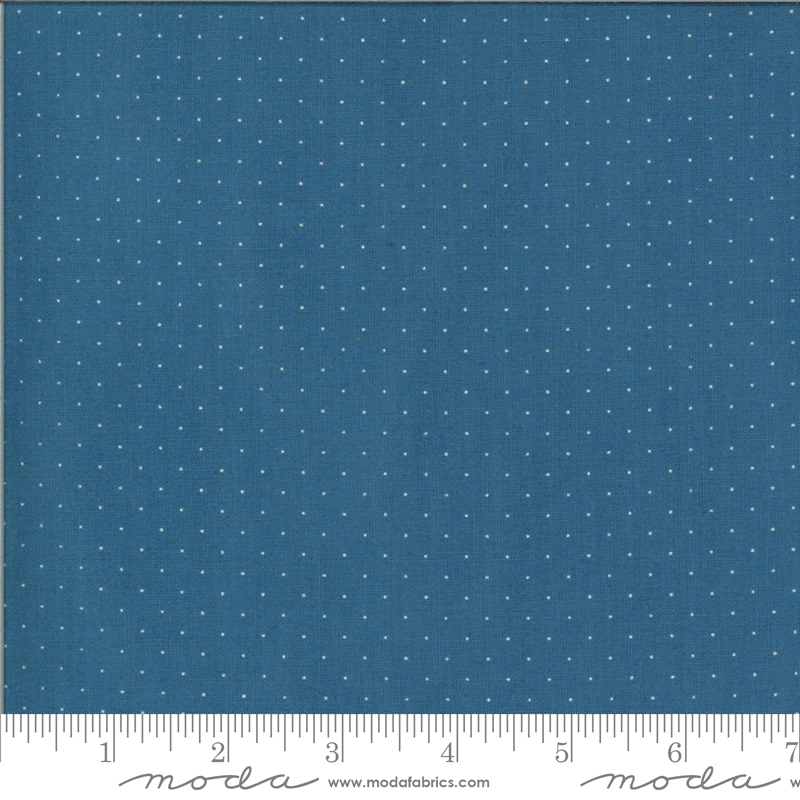 It's Elementary  by American Jane - Pindot - Blue/White - Moda 21098 154