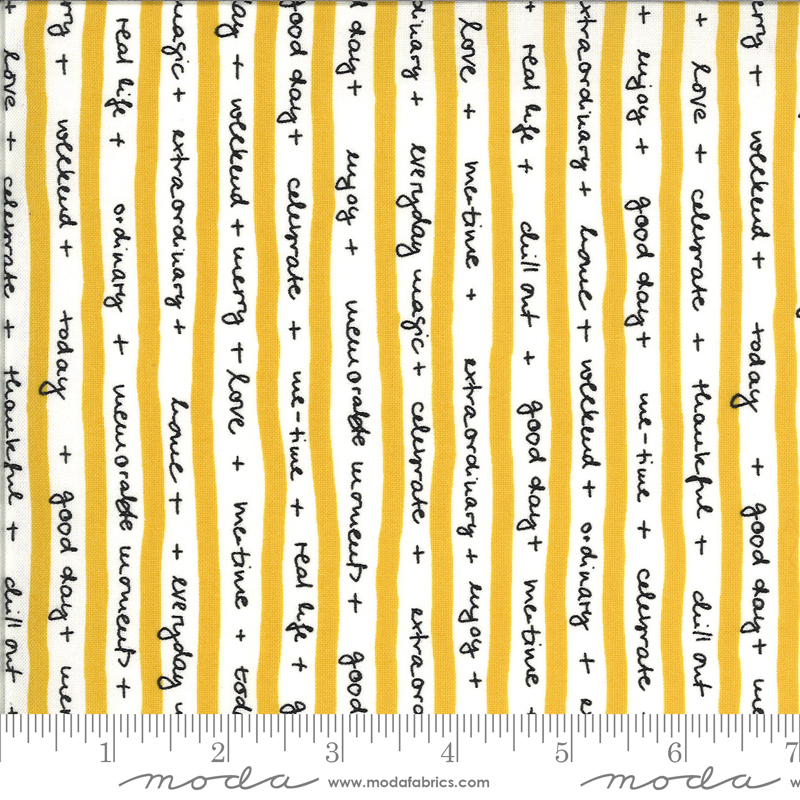 Quote Stripes - Mustard