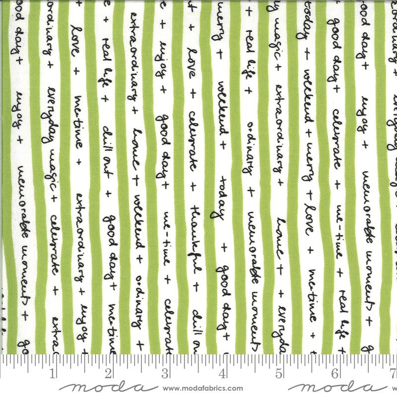 Moda 1732 14 Quotation Pistachio by Zen Chic