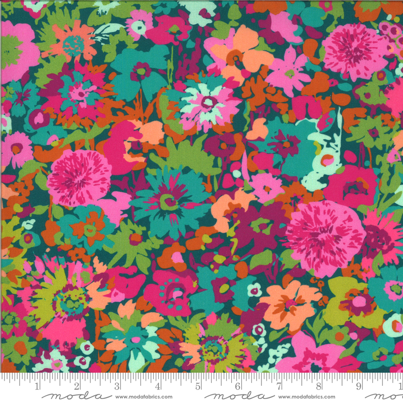 11861 13 Teal Flower Field Kasada Moda
