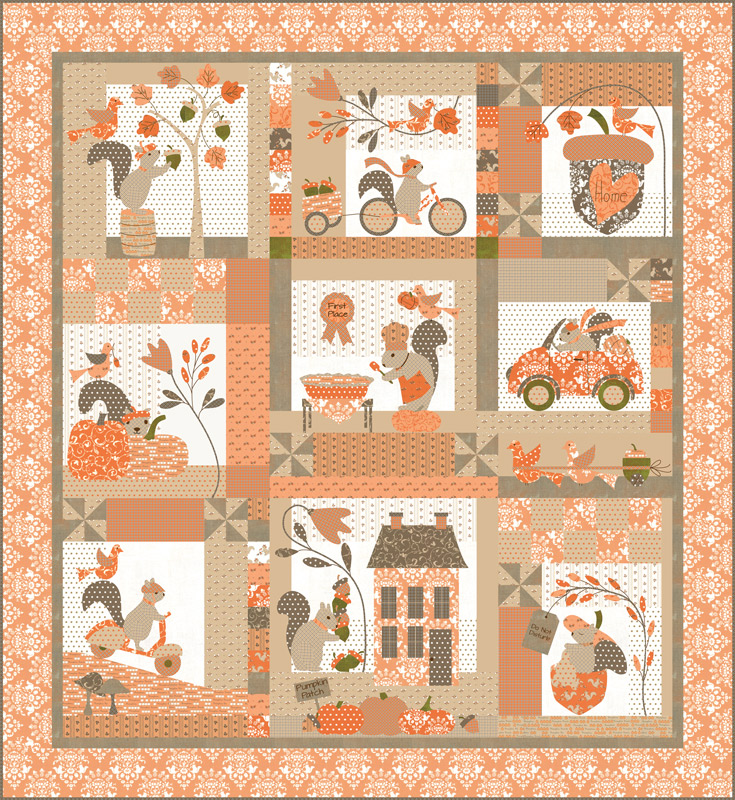 Squirrelly Girl Quilt  Kit (Bunny Hill Designs)