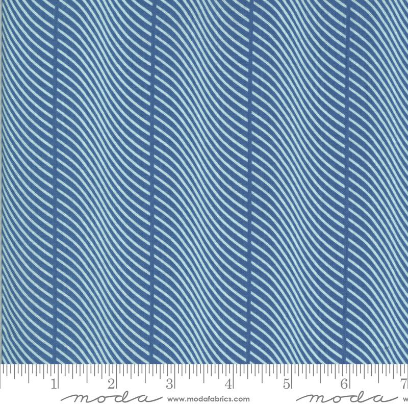 Winkipop feather stripe deep water blue