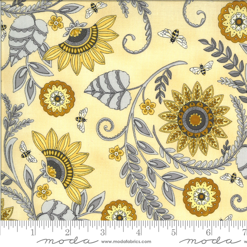Bee Grateful Honey Yellow large floral