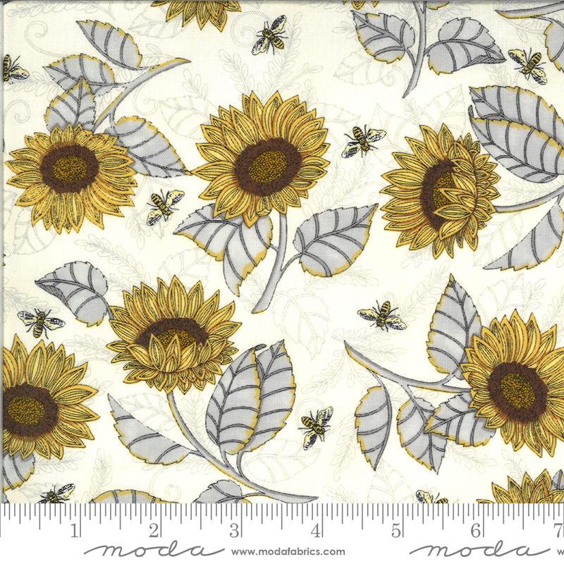 Moda, Bee Grateful, Sunflower Studies, Parchment
