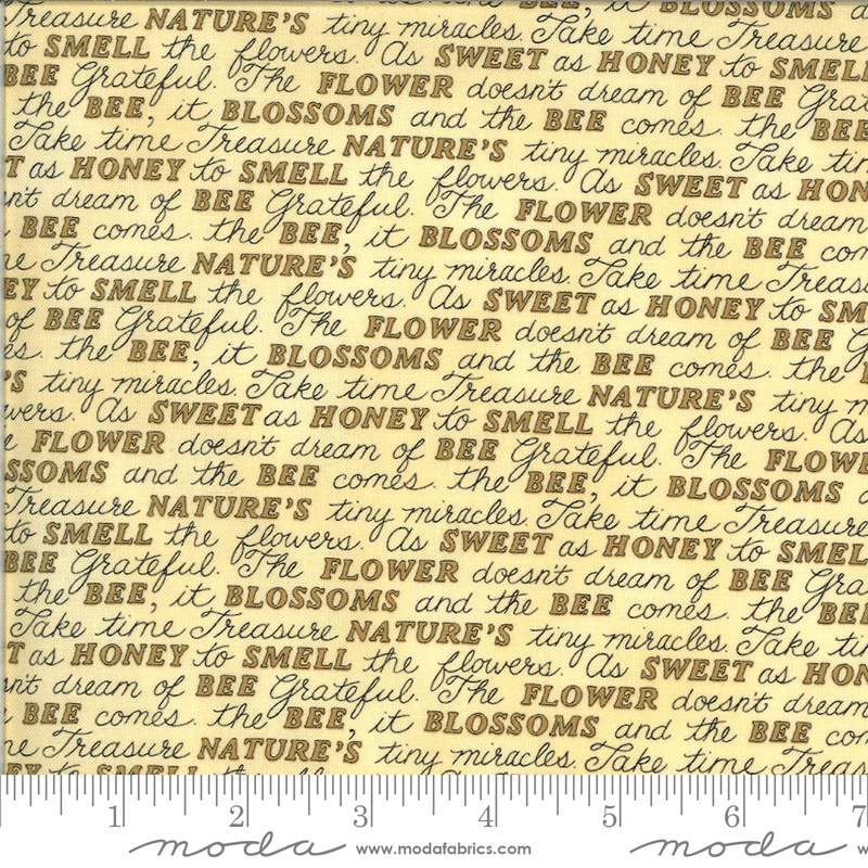 Moda, Bee Grateful, Sweet Words, Honey Yellow