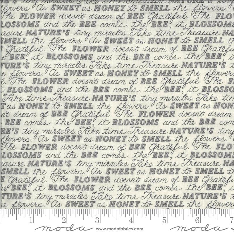 Moda, Bee Grateful, Sweet Words, Dove Grey