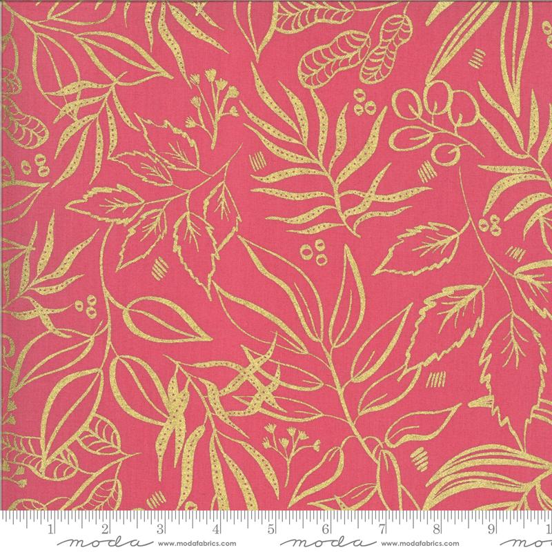 8449-13M Moody Bloom / Metallic - Fuchsia