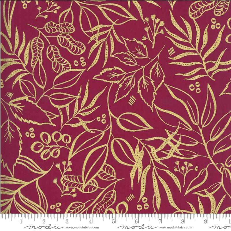 Moody Bloom Metallic Magenta - Leaves - 8449-16M