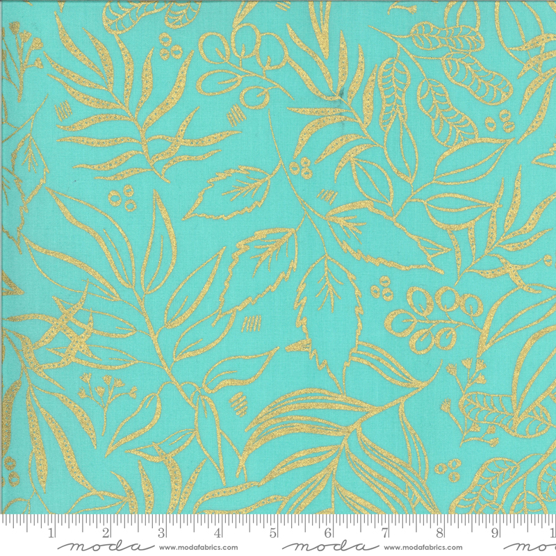 8449-19M Moody Bloom / Metallic - Jade