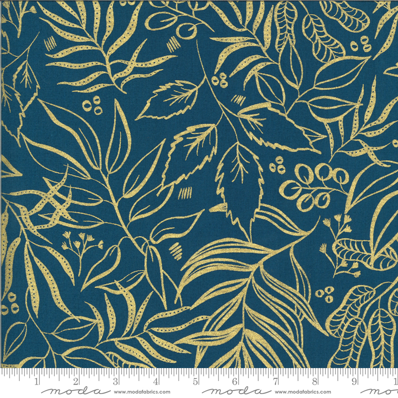 Moody Bloom by Laura Muir 8449 25M Metallic Teal